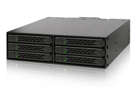 5.25インチベイに6台の2.5インチHDD/SSDを収納可能なエンクロージャー、ICYDOCK「MB996SP-6SB」