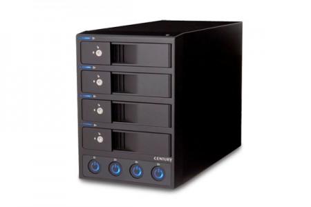 多段ケース初、独立電源スイッチ搭載外付けHDDケース、センチュリー「裸族のカプセルホテル」