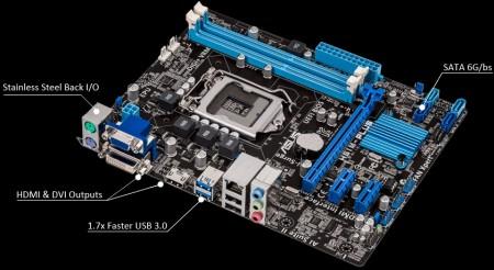 ASUSTeK、HTPCに最適なMicroATXマザーボード「B75M-A」など7機種発表