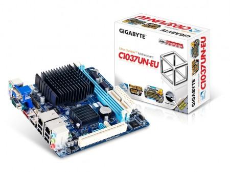Celeron 1037U搭載のファンレスMini-ITXマザーボード、GIGABYTE「GA-C1037UN-EU」