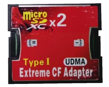 アユート、RAID 0対応のmicroSDXC×2-CF変換アダプタ「PM-CFmSDXC2」発売