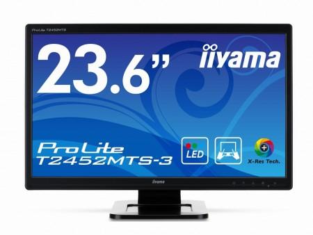 光学カメラ方式のタッチパネル対応23.6インチ液晶、iiyama「ProLite T2452MTS-3」