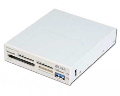 3.5インチ内蔵USB3.0ポート付きマルチカードリーダー、アイネックス「AK-ICR-13A/14A」