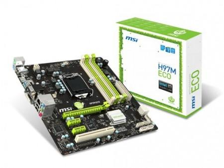 消費電力を最大40%削減できるH97マザーボード、MSI「H97M ECO」8月上旬発売