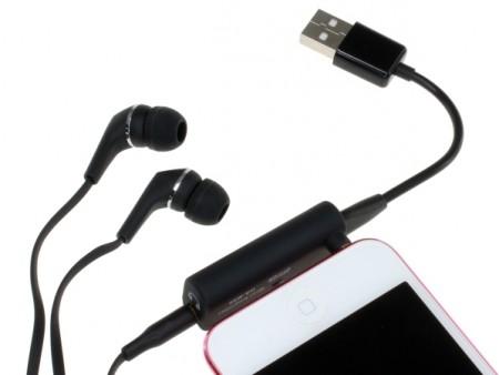 スマートフォンと一体化できるコンパクトヘッドホンアンプ、上海問屋「DN-12356」