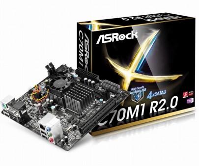 TDPわずか9WのAMD C-70搭載Mini-ITXマザーボード、ASRock「C70M1 R2.0」