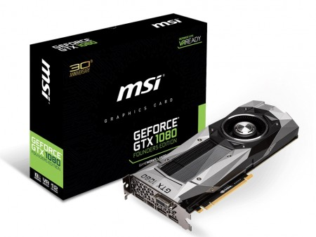 MSI、Pascal採用のハイエンドVGA「GeForce GTX 1080 Founders Edition」27日22時発売