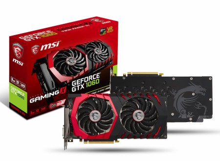 「TWIN FROZR VI」搭載のGTX 1060 3GBモデル、MSI「GeForce GTX 1060 GAMING X 3G」