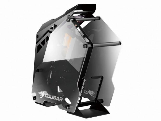 強化ガラスとアルミニウム採用のオープンフレームPCケース「COUGAR CONQUER」10日発売