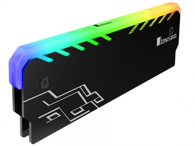 256色イルミ対応のメモリ用ヒートシンク、JONSBO「NC-1」シリーズ