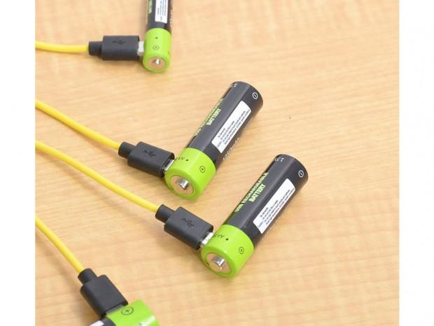 ケーブルがあればどこでも充電できる、USB充電式乾電池全5種類