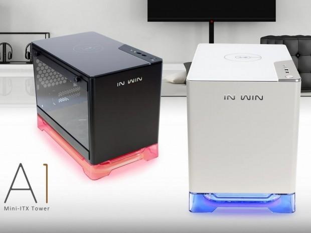 ワイヤレス充電機能を搭載するMini-ITX対応PCケース、In Win「A1」シリーズ