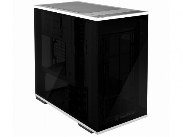 SilverStone、倒立レイアウトの強化ガラス採用ミニタワーPCケース「LD01」