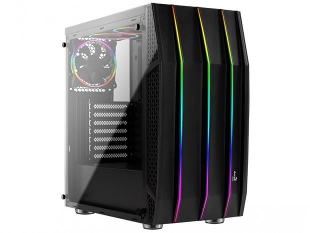 アドレサブルRGBと2面強化ガラス採用のミドルタワーPCケース、Aerocool「Klaw」