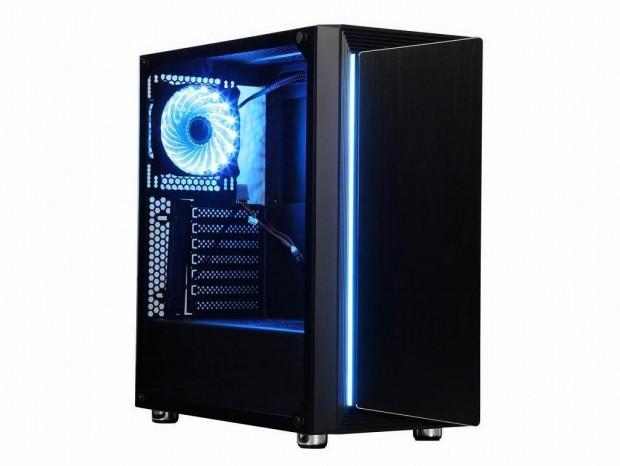 スイングドアのガラスパネル&RGBイルミ搭載ミドルタワー、DIYPC「DIY-Line-RGB」