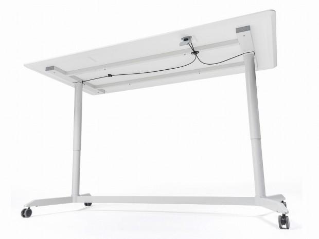 サンワサプライ、スタンディングスタイルでミーティングできるガス圧式の長机を発売