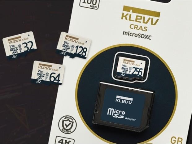 最高100MB/sec、A2対応のmicroSDカード、ESSENCORE「KLEVV CRAS」