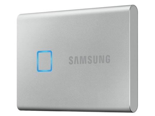 指紋認証機能つきポータブルSSD、「Samsung Portable SSD T7 Touch」国内発売