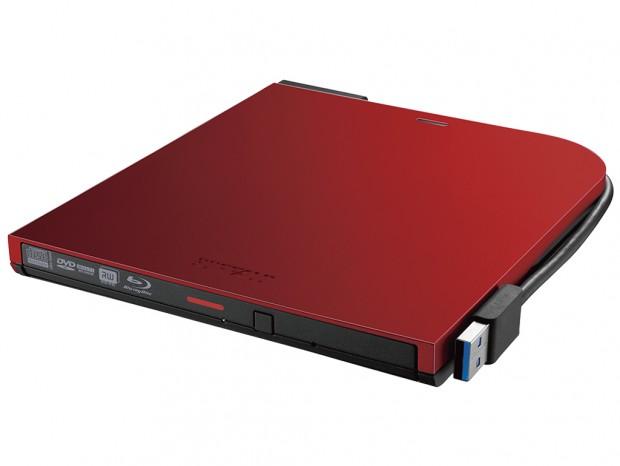 バッファロー、4色から選べるWケーブル搭載BDXL対応ポータブルBlu-rayドライブ