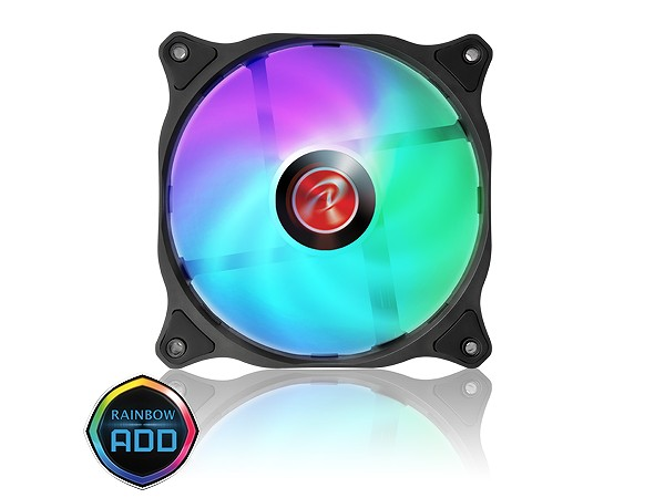 RAIJINTEK、大風量の120mmアドレサブルRGBファン「EOS 12 RBW ADD」シリーズ