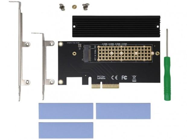 NVMe/SATA両対応のM.2-PCI-Express変換カードがアイネックスから