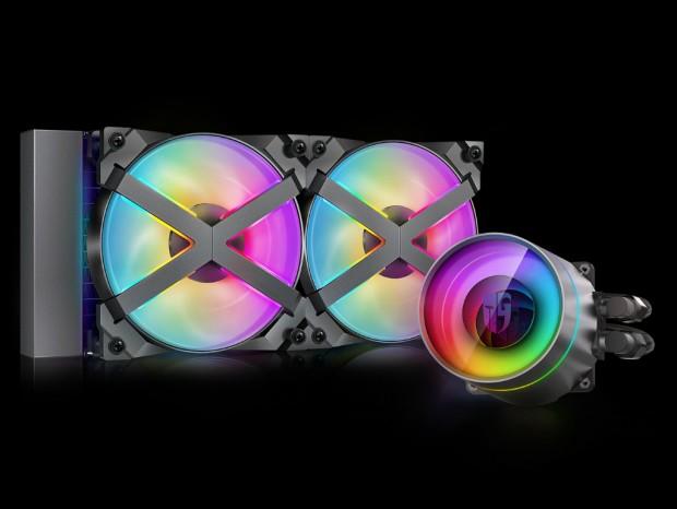 Xフレームファン採用の240mmオールインワン型水冷、Deepcool「CASTLE 240EX RGB」