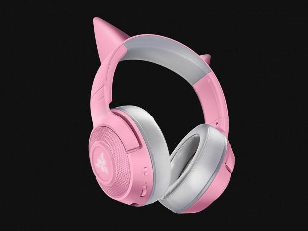 Razer、Bluetooth接続の猫耳型ヘッドセット「Kraken BT Kitty Edition」など計7モデル