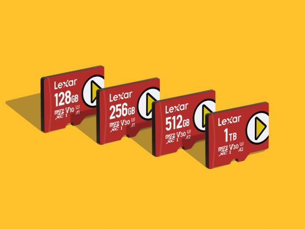 最大容量1TBのA2対応microSDXC、Lexar「PLAY microSDXC」シリーズ