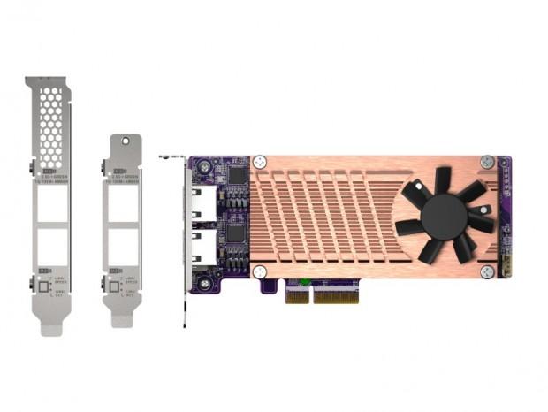 2.5G LANとM.2 SSDを2基ずつ増設できる拡張カード、QNAP「QM2-2P2G2T」